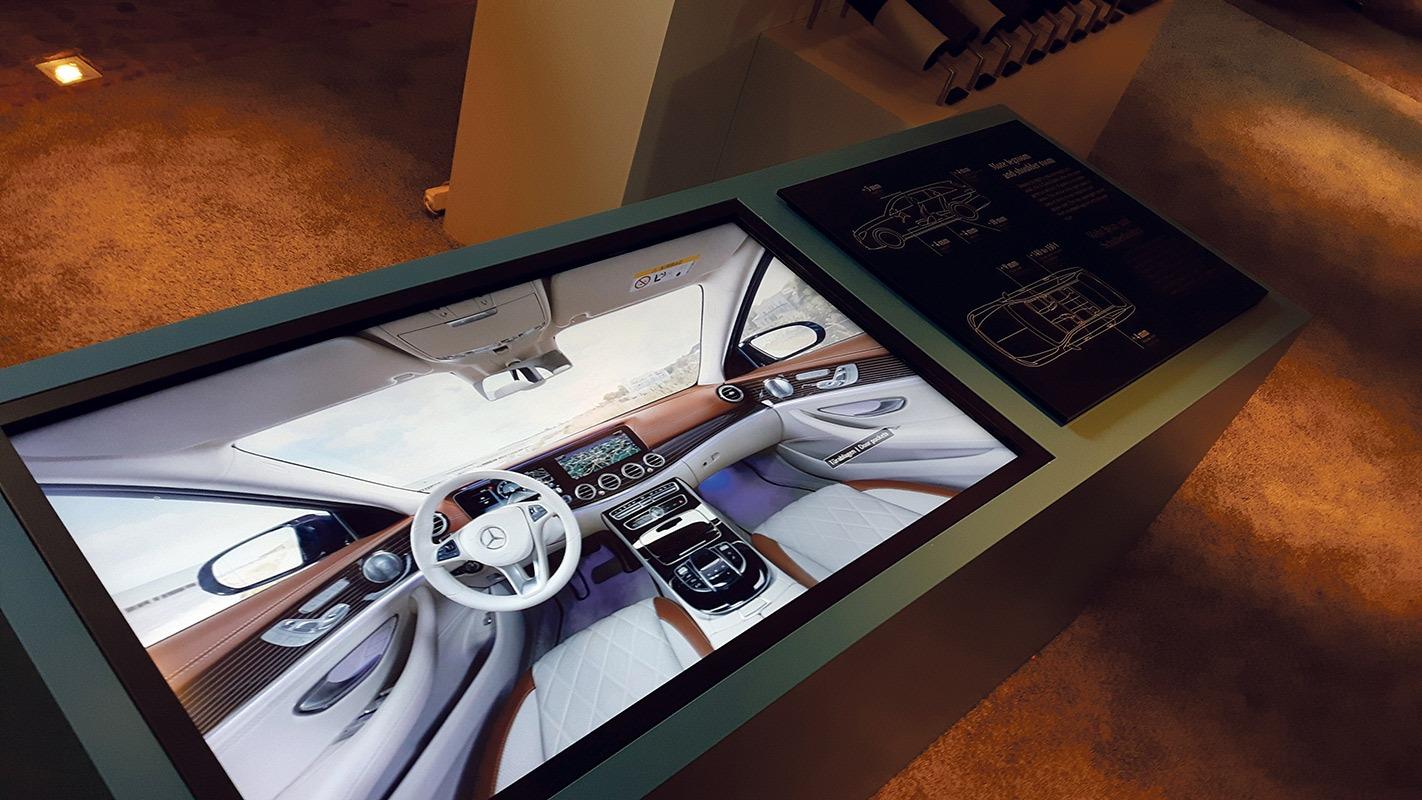 Mercedes-Benz S213, interaktive Touchscreen-Anwendung