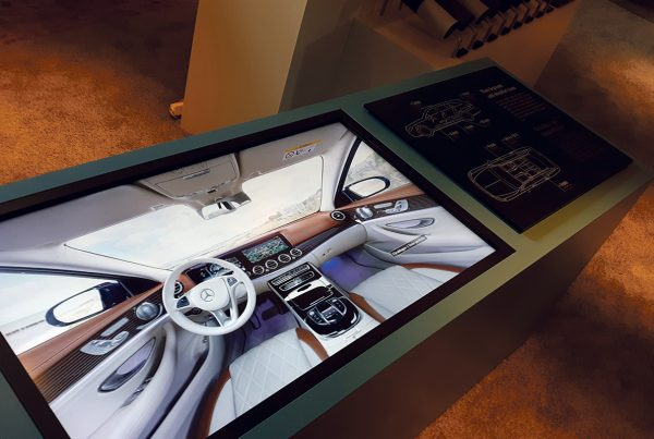 Mercedes-Benz S213, interaktive Touchscreen-Anwendung