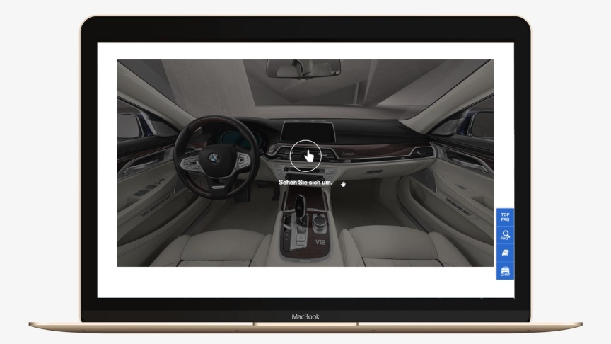 360 Car Interior auf Macbook