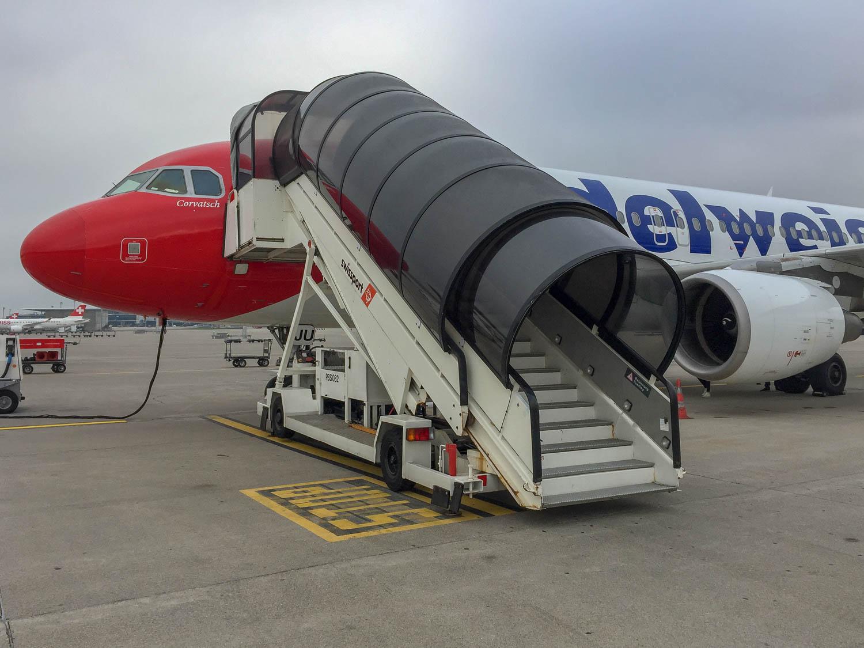 Air Edelweiss Airbus Interior in 360 Grad